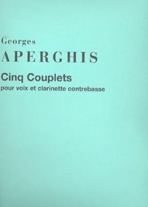 5 Couplets - Georges Aperghis - Partition - laflutedepan.com