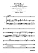 O légère hirondelle. Mireille - Charles Gounod - laflutedepan.com