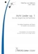 Acht Lieder Opus 1 - Martha von Sabinin - Partition - laflutedepan.com
