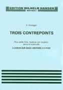 3 Contrepoints Arthur Honegger Partition Piano - laflutedepan.com