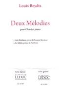 2 Mélodies. Voix Haute Louis Beydts Partition laflutedepan.be