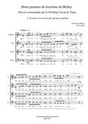 2 Poèmes de Joachim du Bellay Opus 47 Eric Lebrun laflutedepan.com