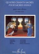 4 Chants Sacrés. Voix Haute Partition Recueils - laflutedepan.com