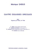 4 Esquisses Grecques - Monique Gabus - Partition - laflutedepan.com
