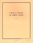 Oeuvre D'orgue. Volume 2 Jehan Alain Partition laflutedepan.com