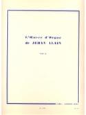 Oeuvre D'orgue. Volume 3 Jehan Alain Partition laflutedepan.com