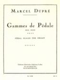 Gammes de Pédale Marcel Dupré Partition Orgue - laflutedepan.com