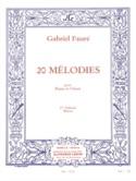 20 Mélodies Volume 1. Mezzo Gabriel Fauré Partition laflutedepan.com