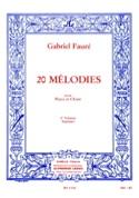 20 Mélodies Volume 2. Soprano Gabriel Fauré Partition laflutedepan.com