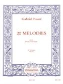 20 Mélodies Volume 2. Mezzo Gabriel Fauré Partition laflutedepan.com