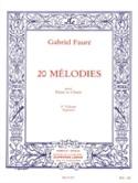 20 Mélodies Volume 3. Soprano Gabriel Fauré Partition laflutedepan.com
