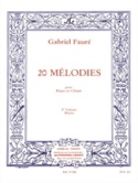 20 Mélodies Volume 3. Mezzo - Gabriel Fauré - laflutedepan.com