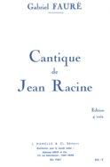 Cantique de Jean Racine - Choeur Gabriel Fauré laflutedepan.com