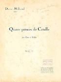 4 Poèmes de Catulle Darius Milhaud Partition Violon - laflutedepan.com