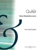 7 Elizabethan Lyrics Op. 12. Voix Grave - laflutedepan.com