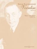 Vocalise Opus 34-14. Mezzo - Sergei Rachmaninov - laflutedepan.com