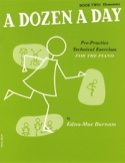 A Dozen A Day Volume 2 en Anglais Partition Piano - laflutedepan.com