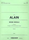 Messe Modale En Septuor. Parties Jehan Alain laflutedepan.com