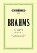 Duette Opus 20, 61, 66, 75 BRAHMS Partition Duos - laflutedepan.com