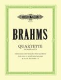 Quatuors Vocaux BRAHMS Partition laflutedepan.com