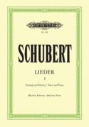 Lieder Volume 1. Voix Moyenne SCHUBERT Partition laflutedepan.com