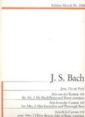 Jesu, Dir Sei Preis BWV 142 BACH Partition laflutedepan.com