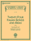 24 Italian Songs And Arias Voix Haute - laflutedepan.com