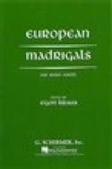 Europeans Madrigals Partition Chœur - laflutedepan.com