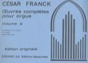 Oeuvres complètes pour orgue - Volume 3 FRANCK Partition laflutedepan