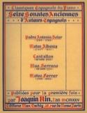 16 Sonates Anciennes D'auteurs Espagnols Partition laflutedepan.com