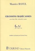 Chansons Madécasses - Maurice Ravel - Partition - laflutedepan.com
