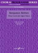 3 Carols For Upper Voices Benjamin Britten Partition laflutedepan.com