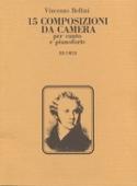 15 Composizioni Da Camera Vincenzo Bellini Partition laflutedepan.com