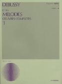 Mélodies. Volume 1 - Claude Debussy - Partition - laflutedepan.com