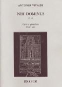 Nisi Dominus Rv 608 Antonio Vivaldi Partition laflutedepan.com