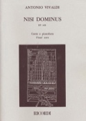 Nisi Dominus Rv 608 VIVALDI Partition Mélodies - laflutedepan.com