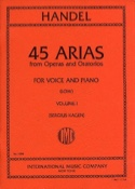 45 Arias Volume 1. Voix Grave HAENDEL Partition laflutedepan.com