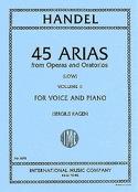 45 Arias Volume 2. Voix Grave HAENDEL Partition laflutedepan.com