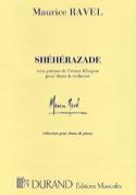 Shéhérazade. - Maurice Ravel - Partition - Mélodies - laflutedepan.com