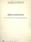 2 Sonnets - André Caplet - Partition - Harpe - laflutedepan.com