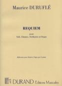 Requiem Opus 9. Choeur seul - Maurice Duruflé - laflutedepan.com