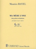 Ma Mère l'Oye. 4 mains Maurice Ravel Partition laflutedepan.com