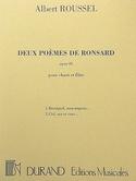 2 Poèmes de Ronsard Opus 26 Albert Roussel Partition laflutedepan.com