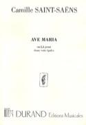 Ave Maria En La. Duo Camille Saint-Saëns Partition laflutedepan.com