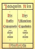 10 Noëls Espagnols - Joaquim Nin-Culmel - Partition - laflutedepan.com
