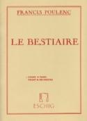 Le Bestiaire - Francis Poulenc - Partition - laflutedepan.com