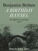 A Birthday Hansel Opus 92 Benjamin Britten Partition laflutedepan.com
