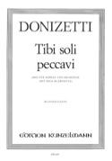 Tibi Soli Peccavi Gaetano Donizetti Partition laflutedepan.com
