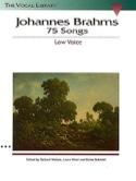75 Songs. Voix Grave - Johannes Brahms - Partition - laflutedepan.com