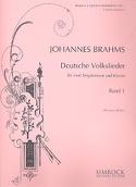 Deutsche Volkslieder Volume 1 Johannes Brahms laflutedepan.com